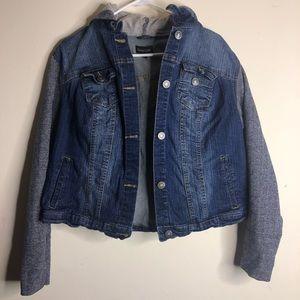 ⛄️Jean Jacket with hood